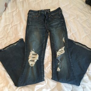NWT American eagle size 4 long flare jeans